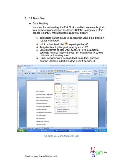 membuat format daftar isi di word 2007 13 detik membuat daftar isi di ms word 2007 r4 doc