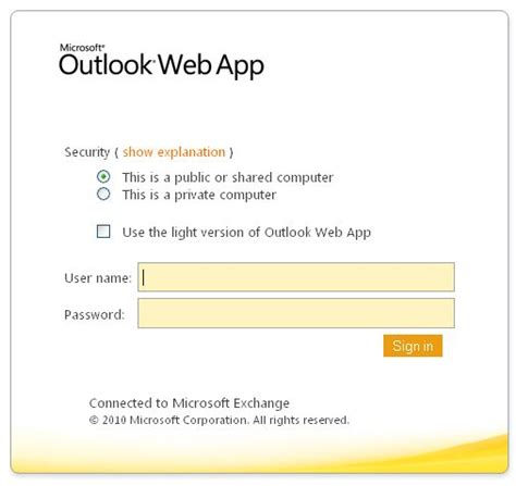 Office Outlook Web Access Sign In by Microsoft Outlook Login