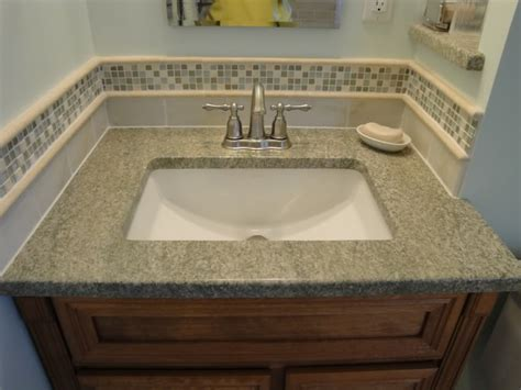 bathroom sink backsplash ideas bathroom tile accent ideas used the glass tile