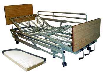 deluxe manual adjustable hospital beds with length rails
