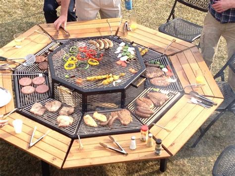 easy diy pit with grill 3 in 1 pit grill and table diy cozy home