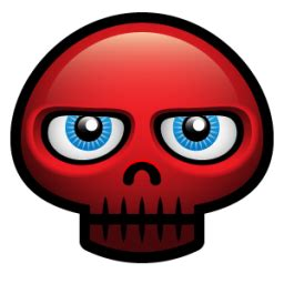 Red Skull Icon - ico,png,icns,Icon pack download