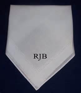 Monogramed Items 12 Mens Handkerchiefs Hankies Monogrammed Personalized