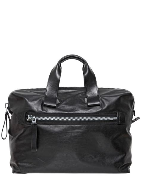 Donini Bag Nappa Leather lyst lanvin small nappa leather bowling bag in black