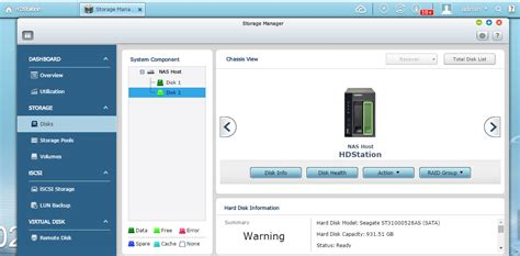 format hard drive qnap a hard disk drive error is shown on the nas what should i
