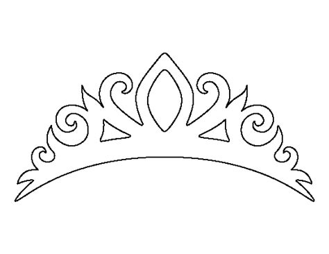 printable black and white crown printable tiara template