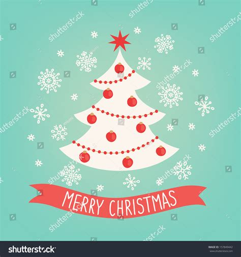 christmas cards shutterstock greeting card tree stock vector 157849442