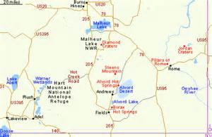 map of oregon lakes southeast oregon