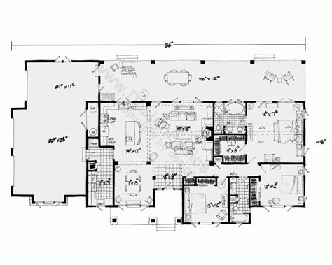 open floor plans with basement one story house plans with open floor plans design
