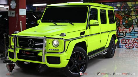 mercedes g wagon green fluro yellow mercedes benz g63 amg by profoil gtspirit