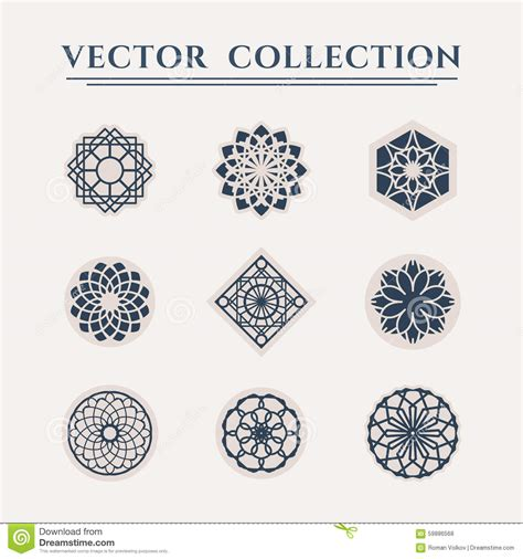 vector geometric symbols stock vector image 59886568