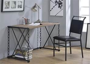 industrial style desk pablo industrial style writing desk