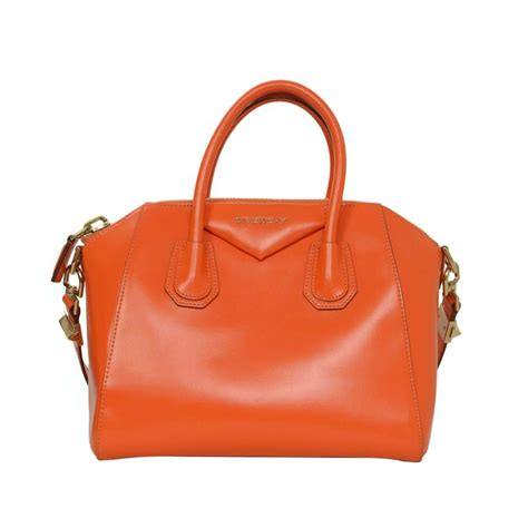 Agivenchy Nightingale Togo Leather Ghw Small givenchy orange leather small antigona bag ghw for sale at