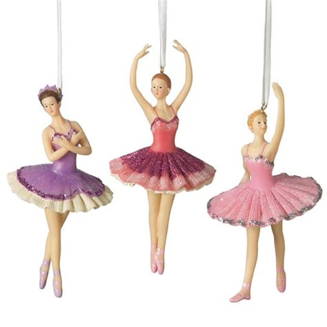 ballerina christmas ornaments set of 3