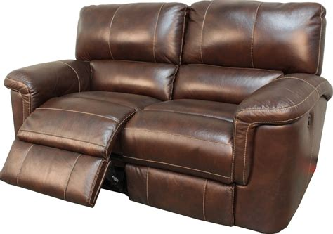 living hitchcock cigar brown leather reclining sofa