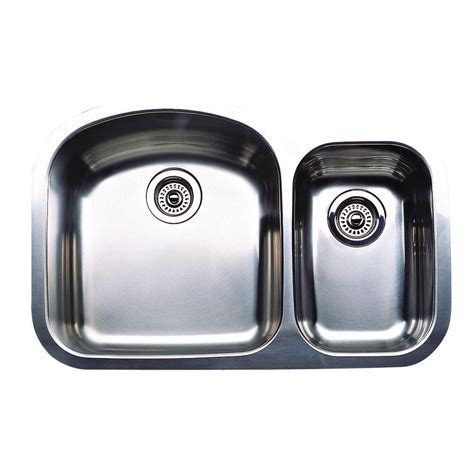 1 1 2 Bowl Kitchen Sink Blanco Wave Plus Undermount Stainless Steel 32 In 1 1 2 Bowl Kitchen Sink 440167 The Home Depot