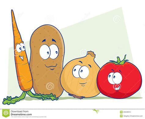 Vegetable Cartoon Characters Stock Vector   Image: 26648912