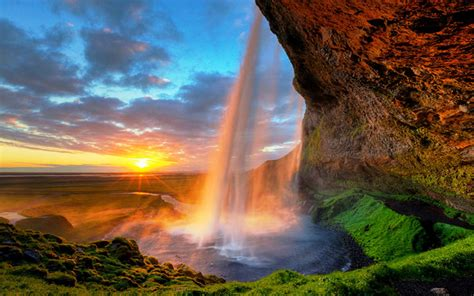 famous falls seljalandsfoss is one of the most famous waterfalls in