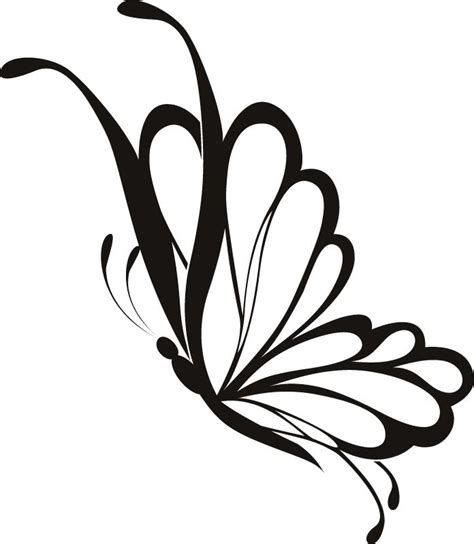 side butterfly tattoo designs simple flying butterfly drawing search