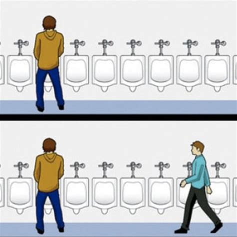 Urinal Checkmate Meme - urinal etiquette know your meme