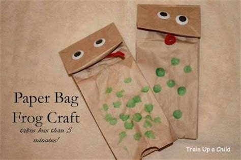 Paper Bag Crafts For Preschool - 69 best frog crafts images on animals frog