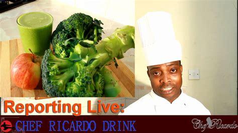 Jamaican Detox Drink by Jamaican Chef Make Green Drink Broccoli Apple