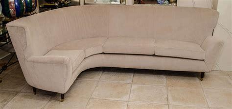 L Shaped Modern Sofa Curvy Quot L Quot Shaped Modern Sofa At 1stdibs