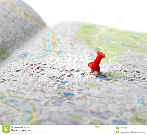 travel destination maps travel destination map push pin stock image image 28571439