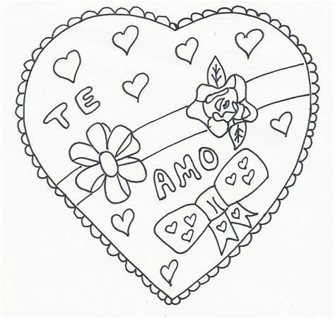imagenes de corazones sin color 74 corazones de amor para pintar imprimir descargar y