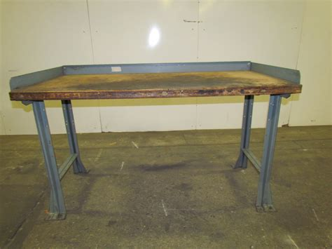 work bench frame hallowell industrial wood top workbench table welded steel frame 60x30x33 quot height ebay