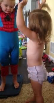kids wearing wet diapers girls goodnites undercover mission