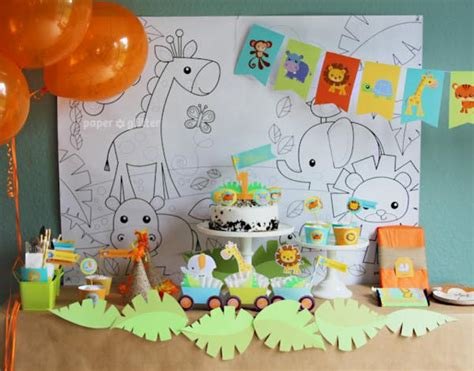 kara s ideas jungle themed 1st birthday kara - 1st Birthday Jungle Theme Decorations
