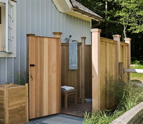 outdoor cedar shower cedar plank outdoor shower outdoor showers