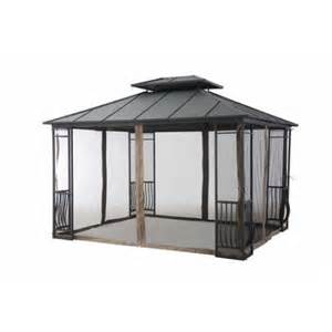 12 X 10 Barrel Roof Gazebo by Sunjoy Universal Netting For 10 Ft X 12 Ft Gazebo