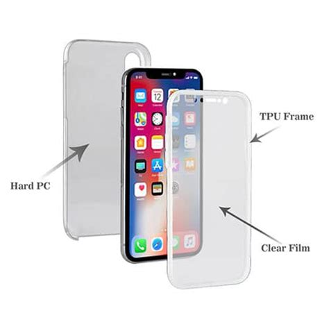 iphone xs max 360 186 pc tpu with protective screen cover