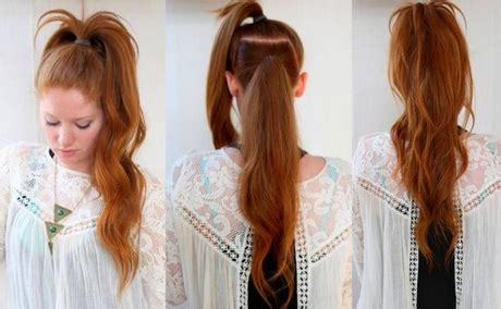 easy hairstyles for school for thick hair quick and easy hairstyles for long thick hair
