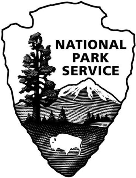 national park service black and white logo