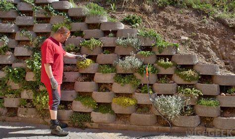 types of bricks for garden walls what are retaining wall blocks with pictures