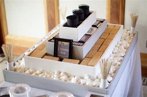 smores at wedding reception chocolate bar wedding favors