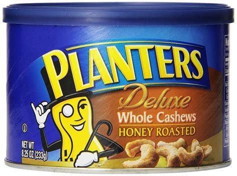 Planters Deluxe Whole Cashews Honey Roasted 8 25 Oz Planters Honey Roasted Cashews