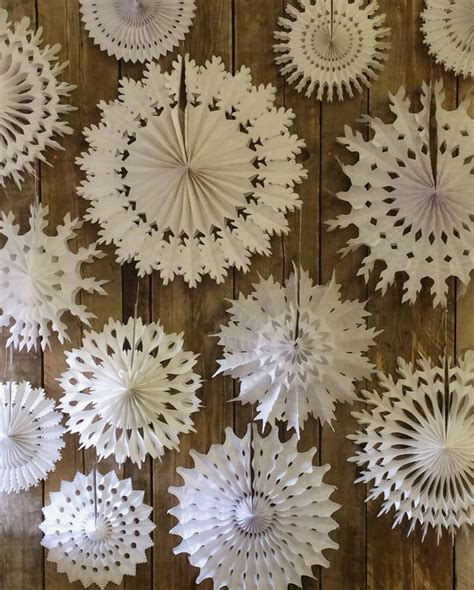 Paper Snowflake Decorations by Set Of Ten Paper Snowflake Decorations By Boase Ltd Notonthehighstreet