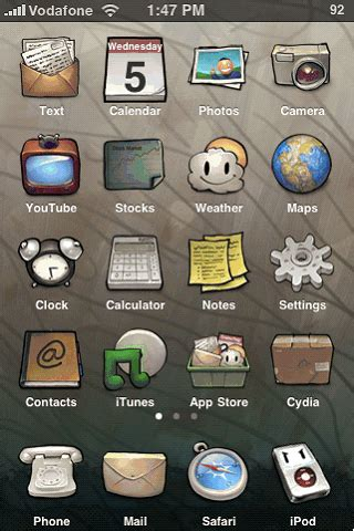 change themes on iphone change your iphone themes winterboard كيف تغير شكل