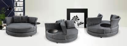 circular sofa chair grey fabric modern adjustable circular sofa w end table