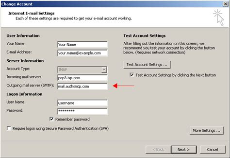 outgoing mail server outlook 2010 authenticated smtp mail relay alternate smtp
