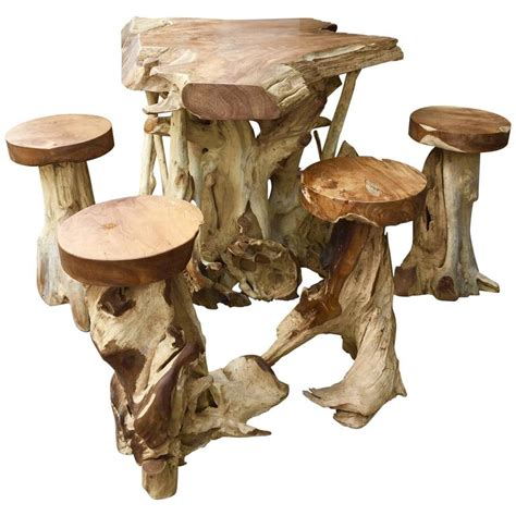 unique stools very unique high table and stools made from ancient teak