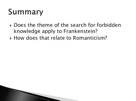 themes of romanticism in frankenstein romanticism gothic intro to a04