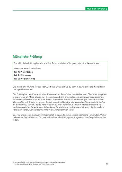 Beschwerdebrief Muster B2 Berlinerplatz Neu B2 Test