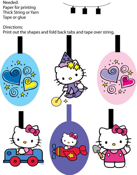 hello kitty printable birthday decorations hello kitty coloring pages