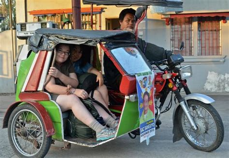 tricycle philippines the transfer from the bus to the tricycle picture of