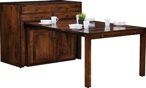 pull out table cabinet buffet with transitional dining table